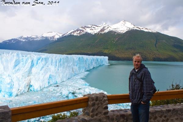 Brendan van Son at Perito Moreno Glacier