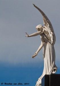 The Angel of La Recoleta, buenos aires, argetina