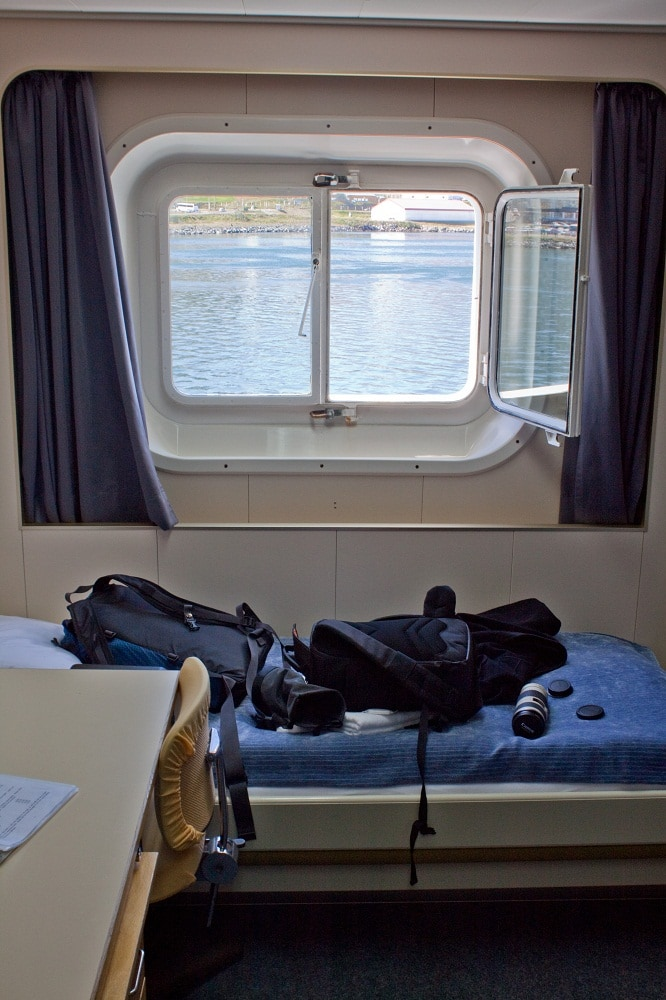 Room on An Antarctica Ship, what to pack for Antarctica, luggage