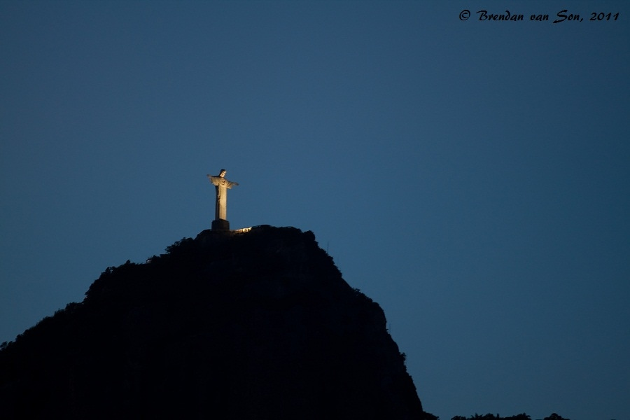 Christ the Redeemer at dusk