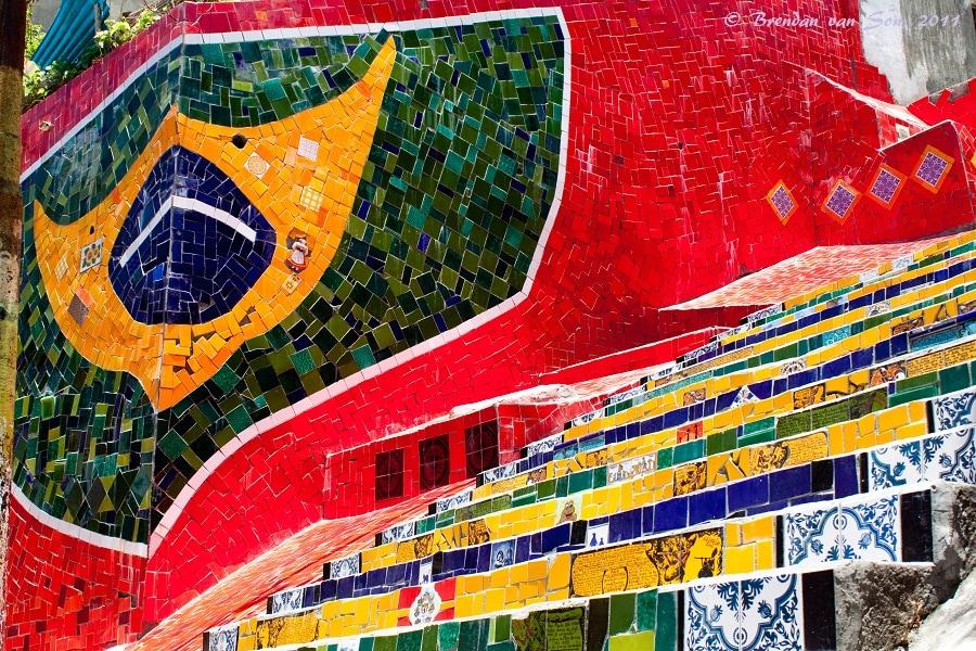 Escadaria selaron, famous stairs in Rio de Janeiro