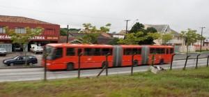 Articulating bus of Curitiba