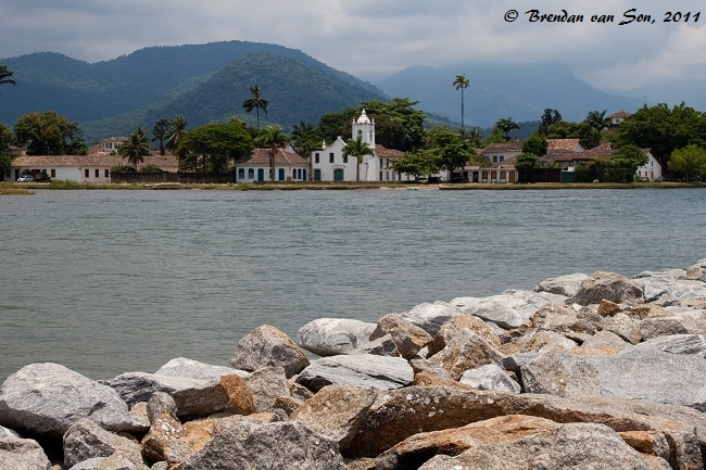 The Old Church in Paraty, Brazil