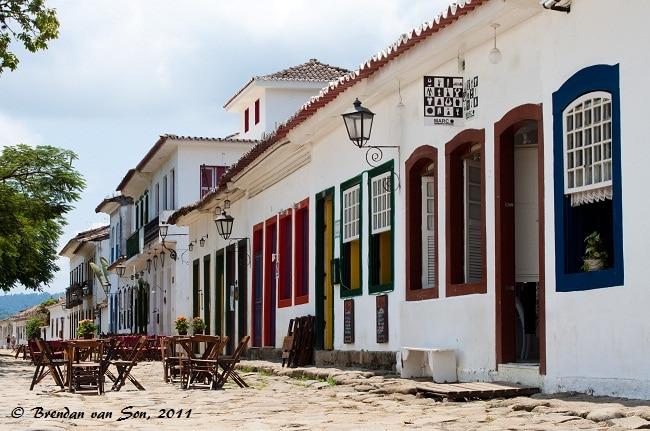 Paraty, street front, Brazil