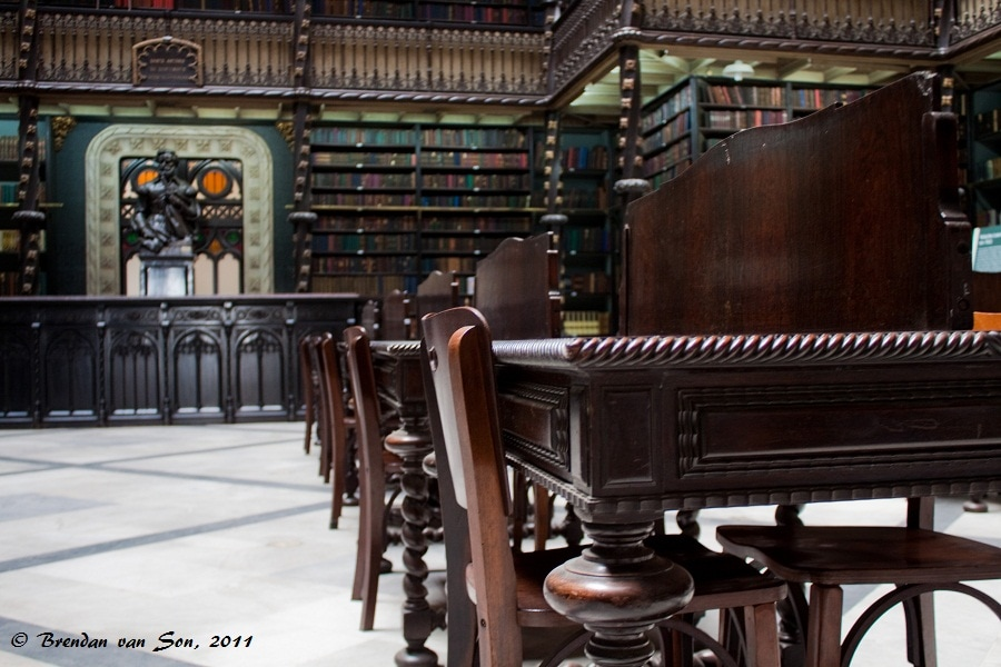 The old library of Real Gabinete Português de Leitura in Rio de Janeiro, Brazil