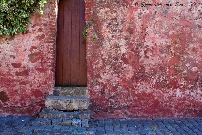 Colonia de Sacramento, Uruguay, door, pink, old, colonial