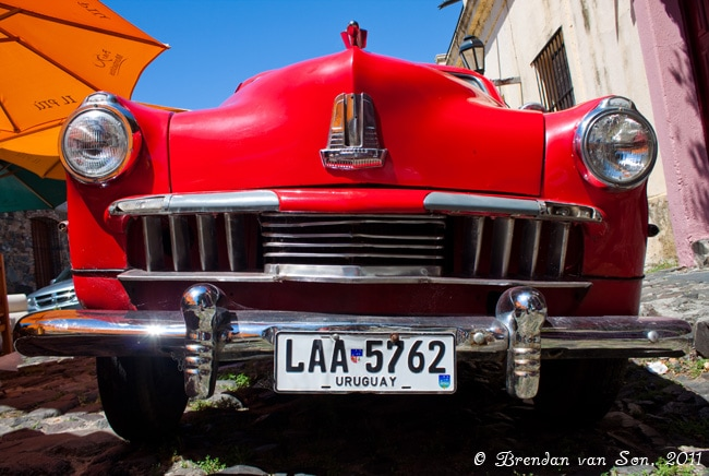 Colonia de Sacramento, Uruguay, car, old, antique