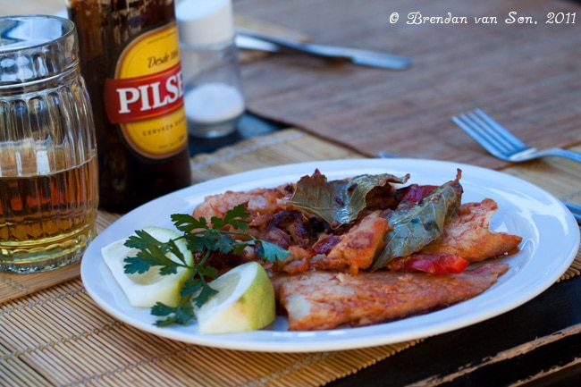 Colonia de Sacramento, Uruguay, food, fish, eating