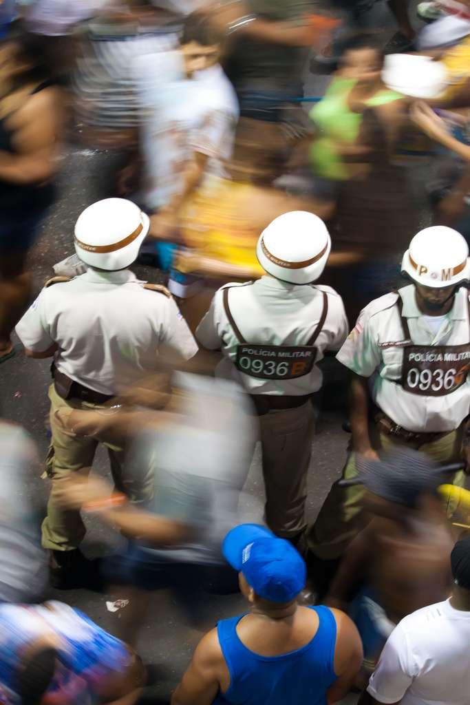 police, carnival, brazil, salvador de bahia