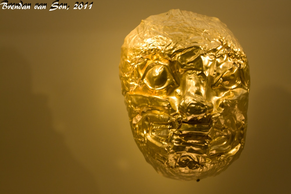 One of the oldest of the masks, very high quality gold