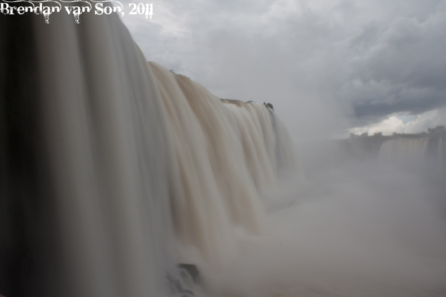 Iguazu Falls close up