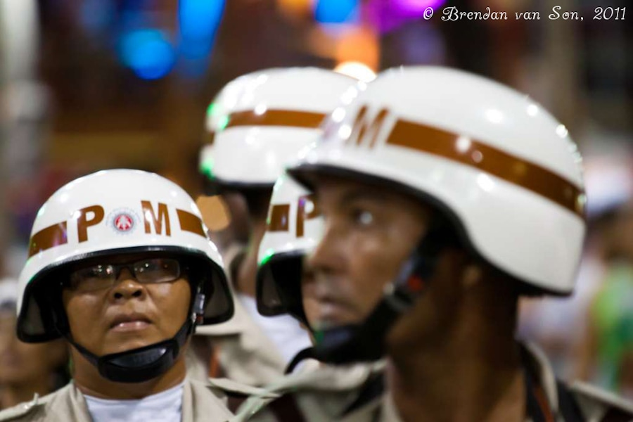 Police Patrolling at Carnival, Salvador de Bahia