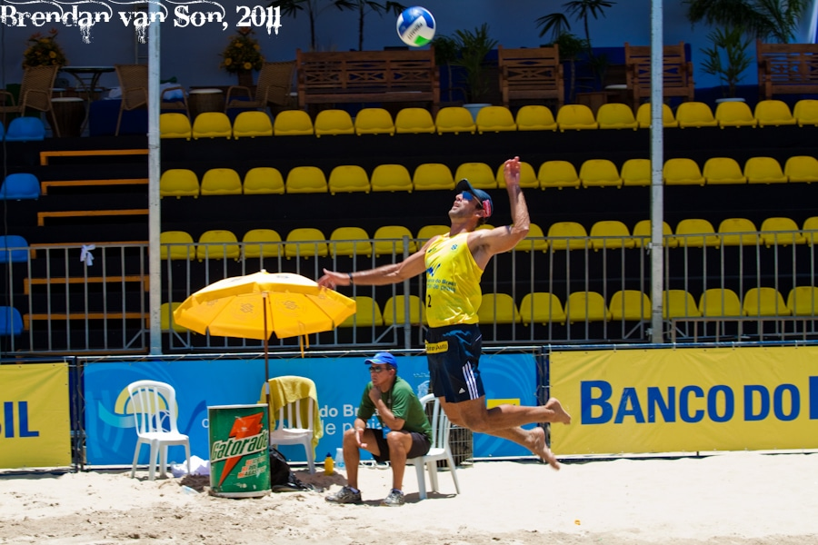 Beach Volleyball Serve, Rio de Janerio