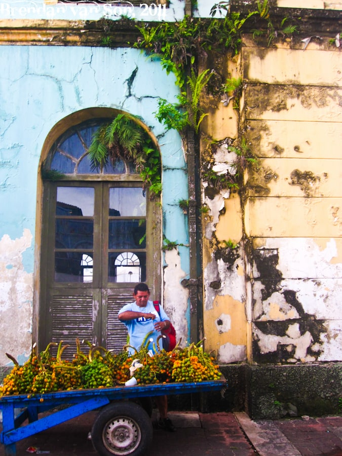 Fruit vendor in Belem