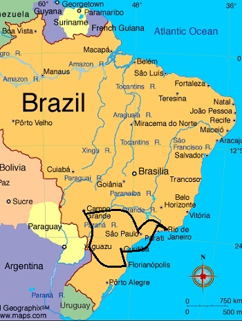 The Southern Loop Brazil Travel Itinerary