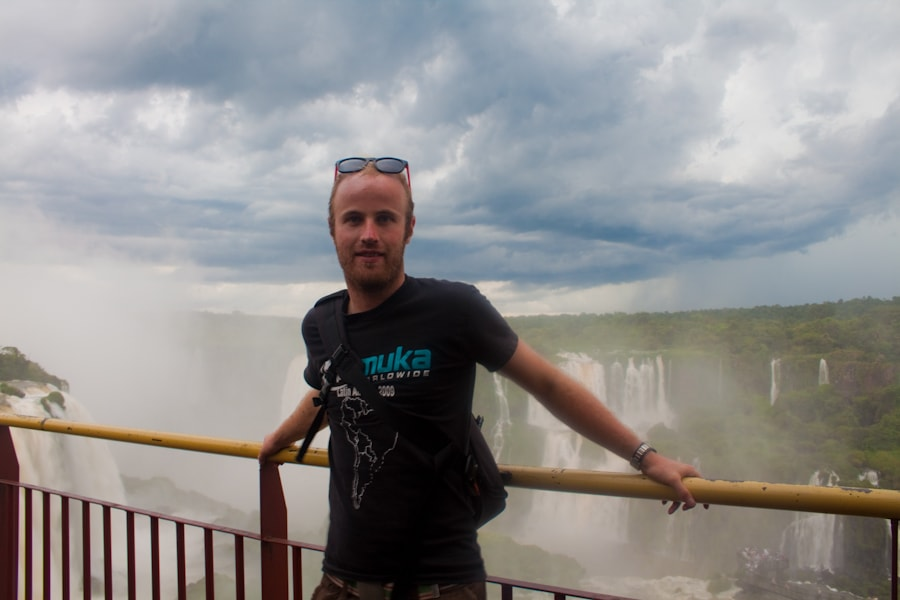 Brendan van Son at Iguazu Falls