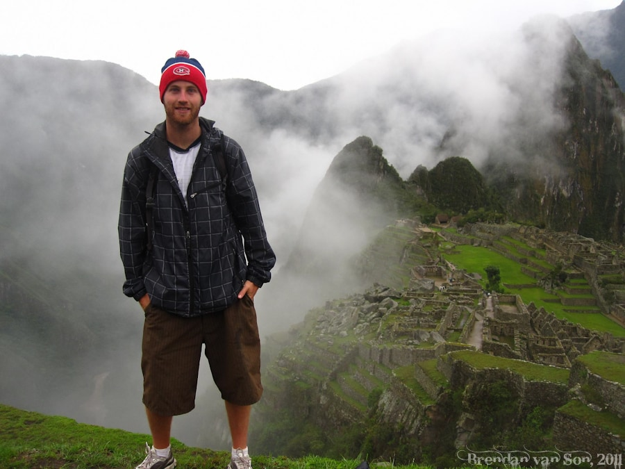 Brendan van Son at Machu Picchu