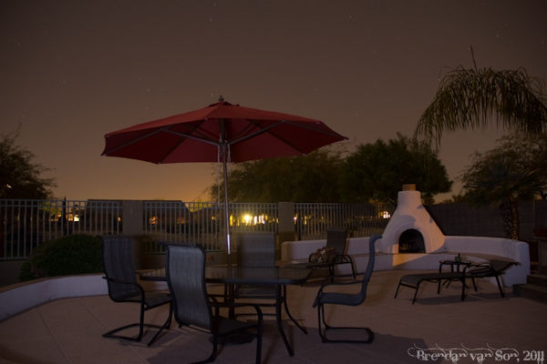 Backyard in Phoenix, Arizona