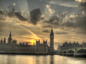 London, Parliament, Big Ben, sunset