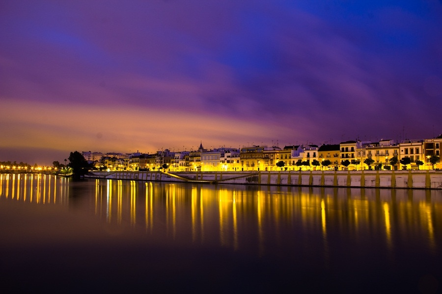 Seville, Dawn, Waterfront, Spain