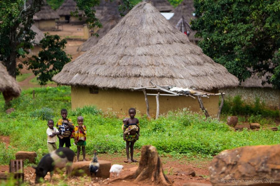 Cote d'Ivoire Stilt Dancers