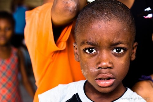 Kid in Haiti