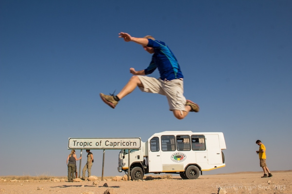 Jumping the Tropic of Capricorn.