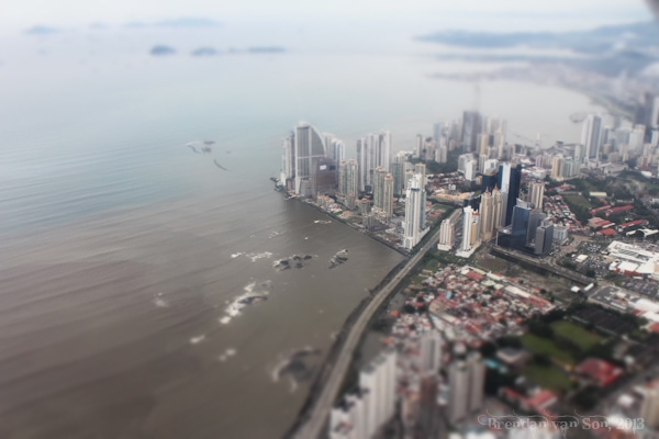 Tilt-shift panama city