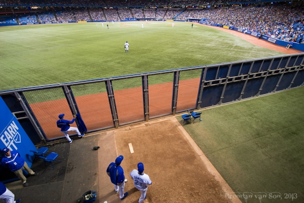 Bluejays game, bullpen