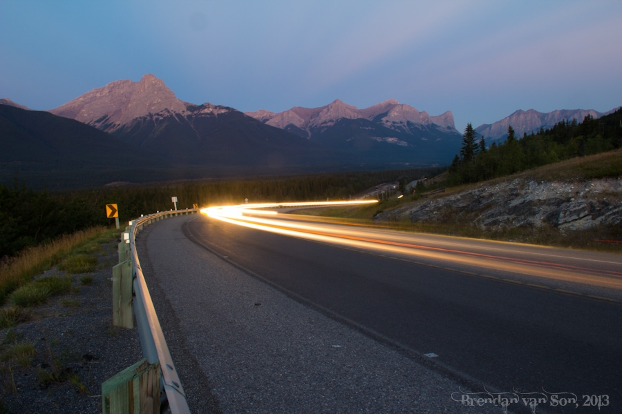 Highway, Canmore, Alberta, Canada