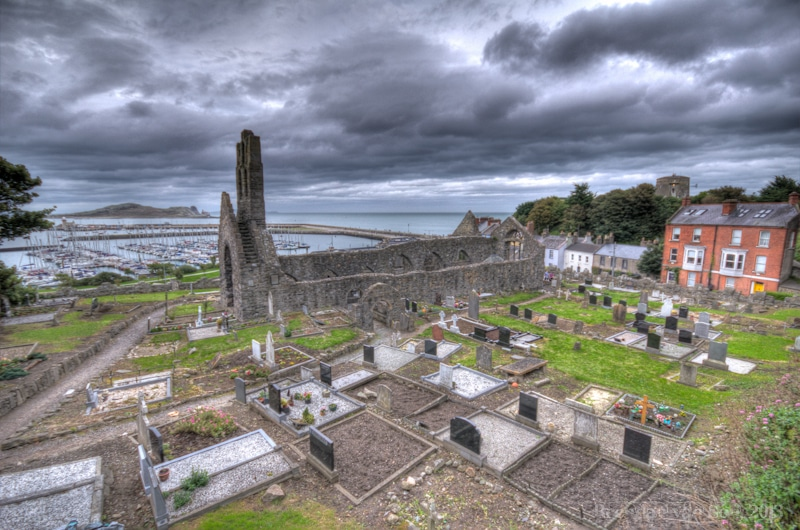 I went for an HDR shot over the cemetery in Howth. I really do like HDR on cemetery scenes because it adds more of an air of drama/