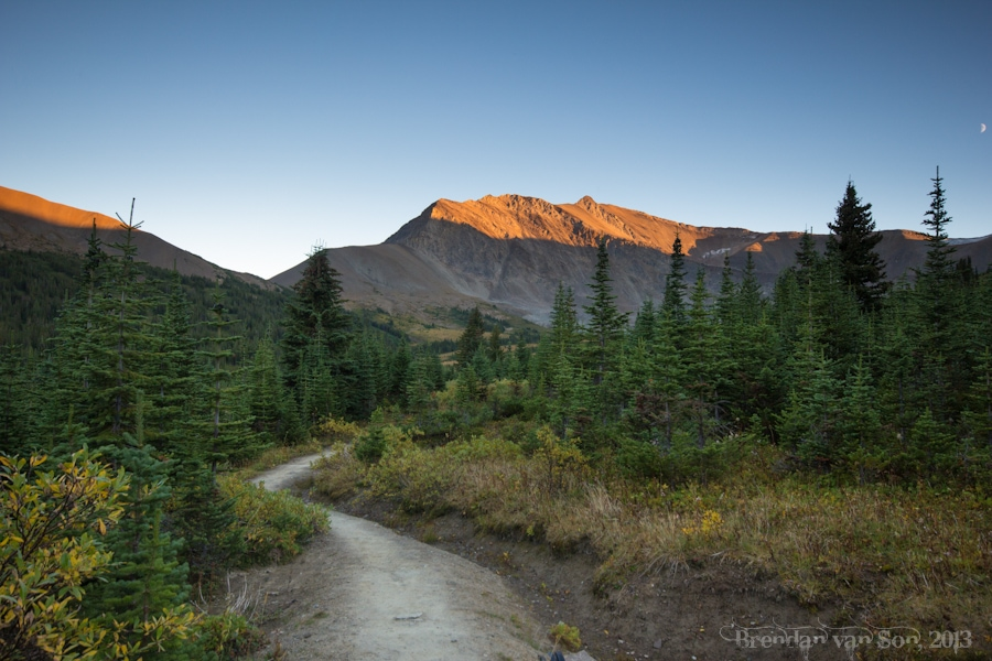 Skyline Trail, Jasper, sunset