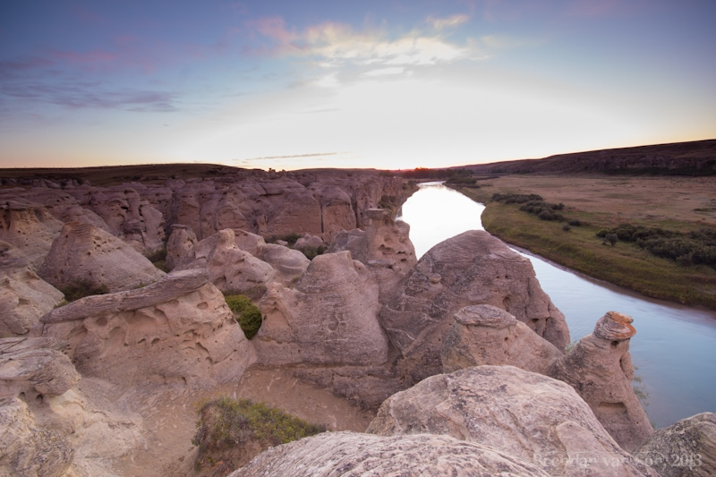 writing on Stone Provincial Park, hoodoos