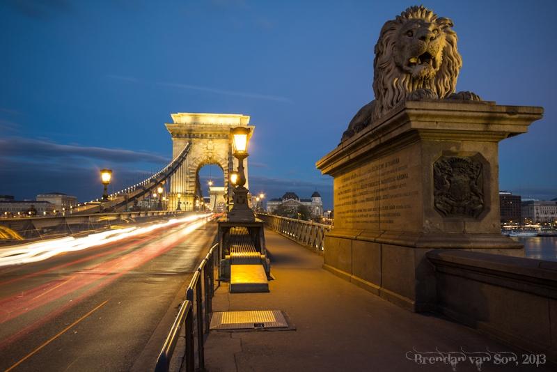 Lion bridge, Budapest