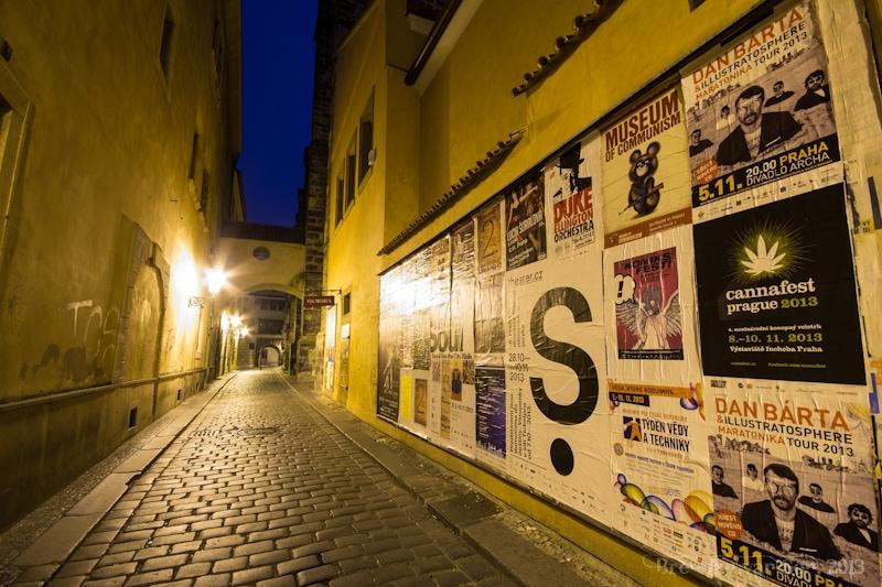 alley, Prague, Czech Republic