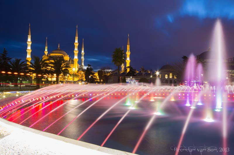 Blue Mosque fountain Istanbul