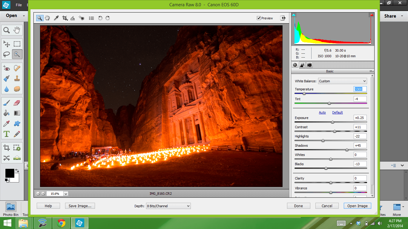 Petra by night and editing star photography with photoshop screenshot 20 baditri Images