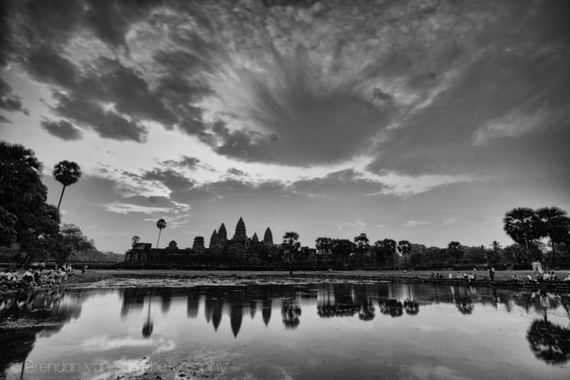 Angkor Wat Black and White