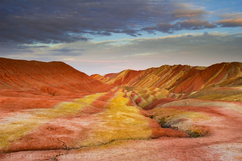 Danxia Rainbow Mountains Zhangye China