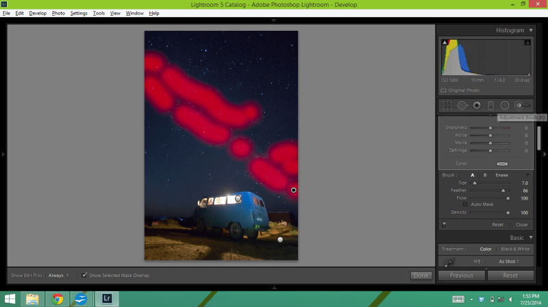 Editing the Milky Way in Lightroom 5