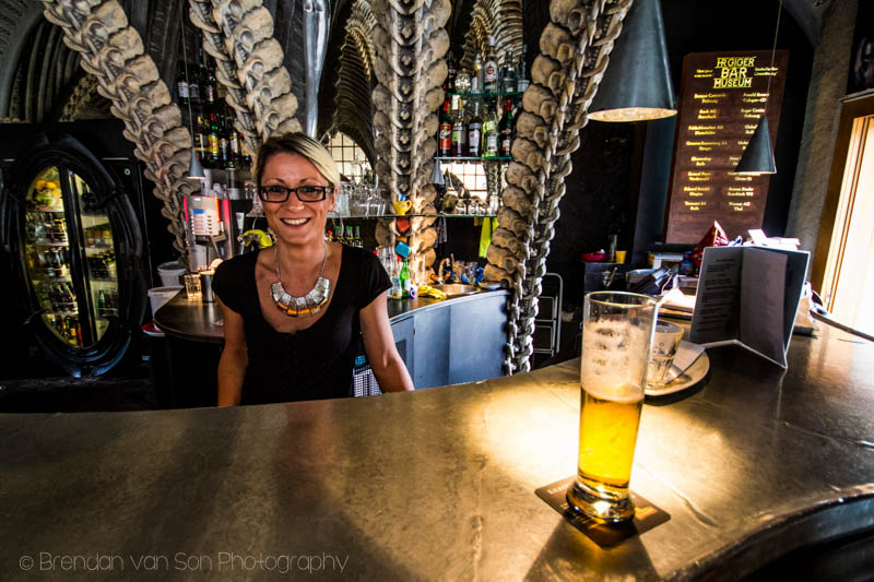 One of the shots in the Alien Bar I didn't HDR.  Hostess was nice enough to let me photograph her. Shot at 10mm: f/4.5, 1/30sec., ISO100