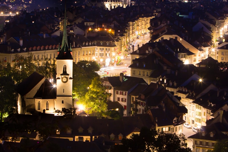 Bern, Switzerland, Photography, night