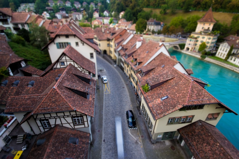Bern, Switzerland, Photography, tilt shift