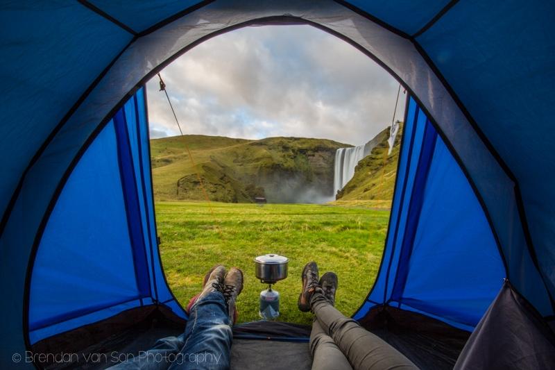 Skogafoss, Camping, Iceland