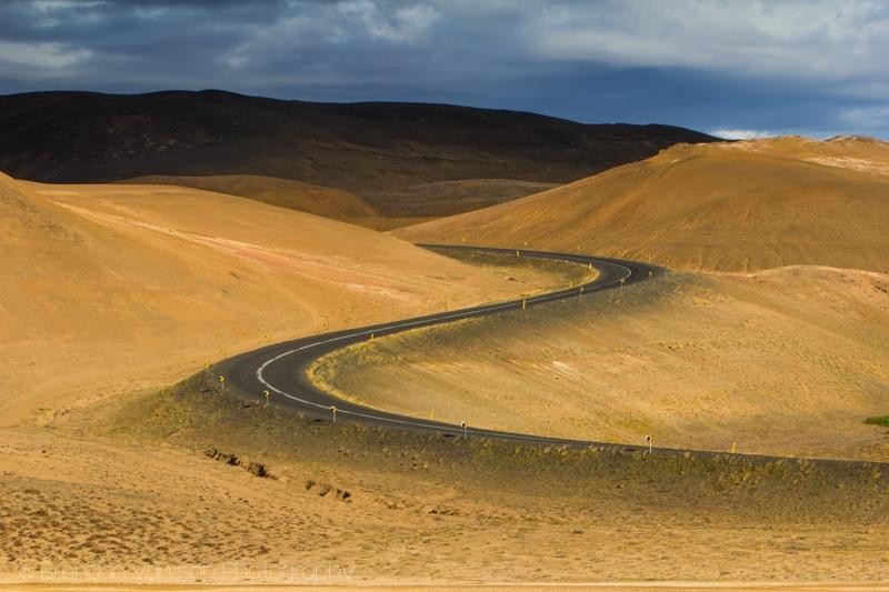 Twisting road, Iceland