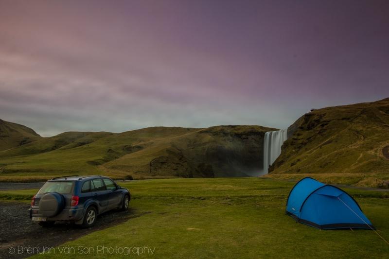 Camping Skogafoss, Iceland