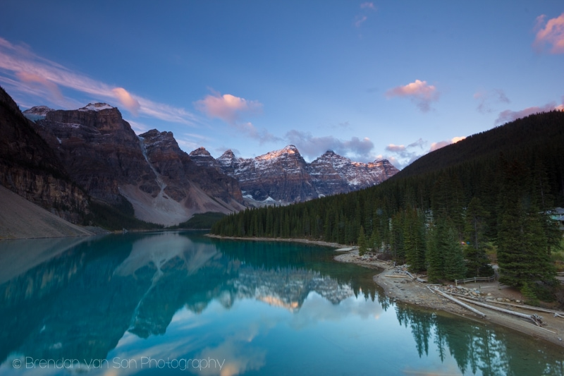 Last image of Moraine Lake from this time around. 10mm: f/16, 1.3sec., ISO100