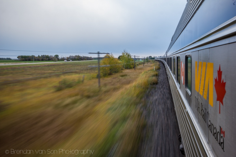 Taking Photos from Trains, VIA Rail, Canada