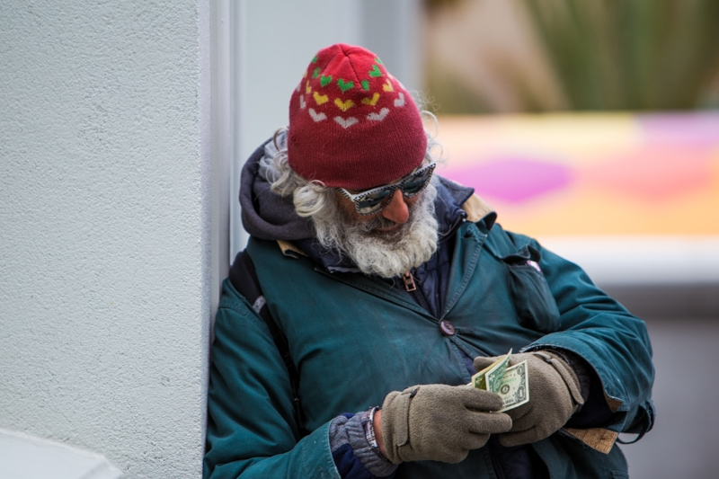 Homeless man, Las Vegas