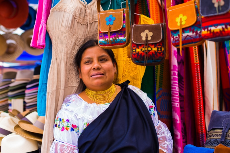 Shops in the Otavalo Market